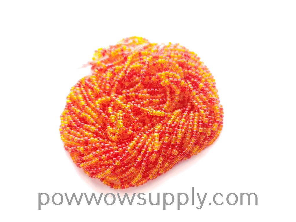 11/0 Seed Beads Fire Colors Mix