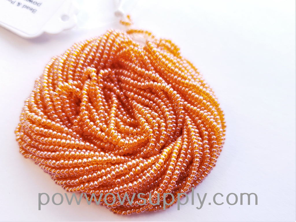 11/0 Seed Beads Transparent Luster Orange