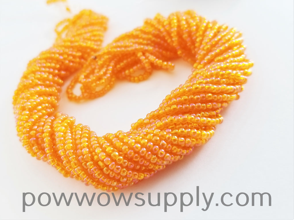 11/0 Seed Beads Transparent AB Light Orange