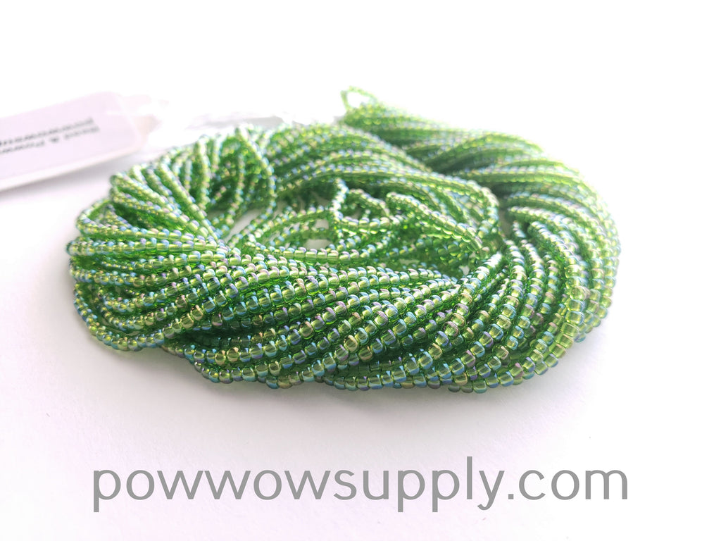 11/0 Seed Beads Transparent AB Lime