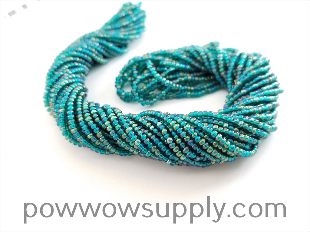 11/0 Seed Beads Transparent AB Emerald