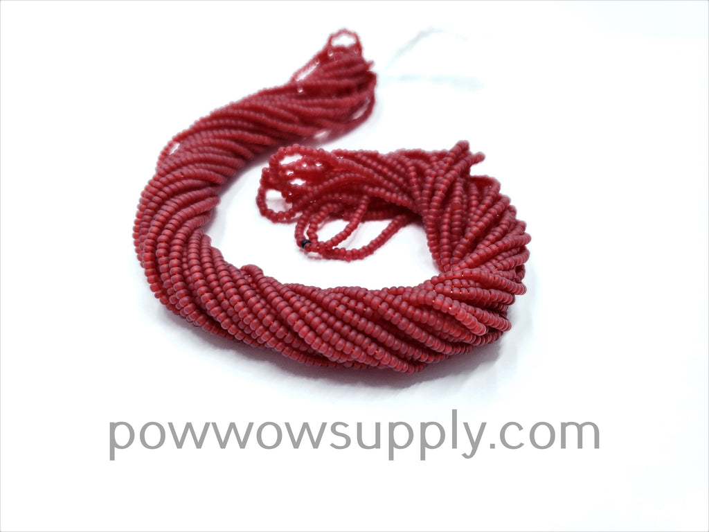 11/0 Seed Beads Transparent Matte Dark Red