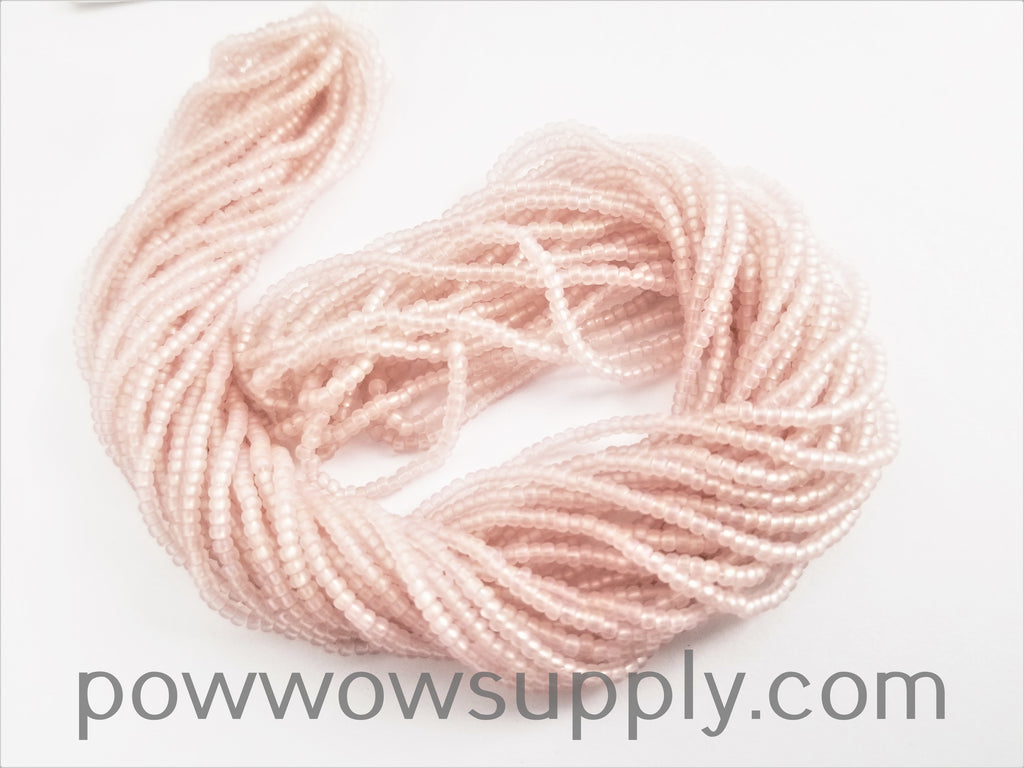 11/0 Seed Bead Transparent AB Matte Light Rose