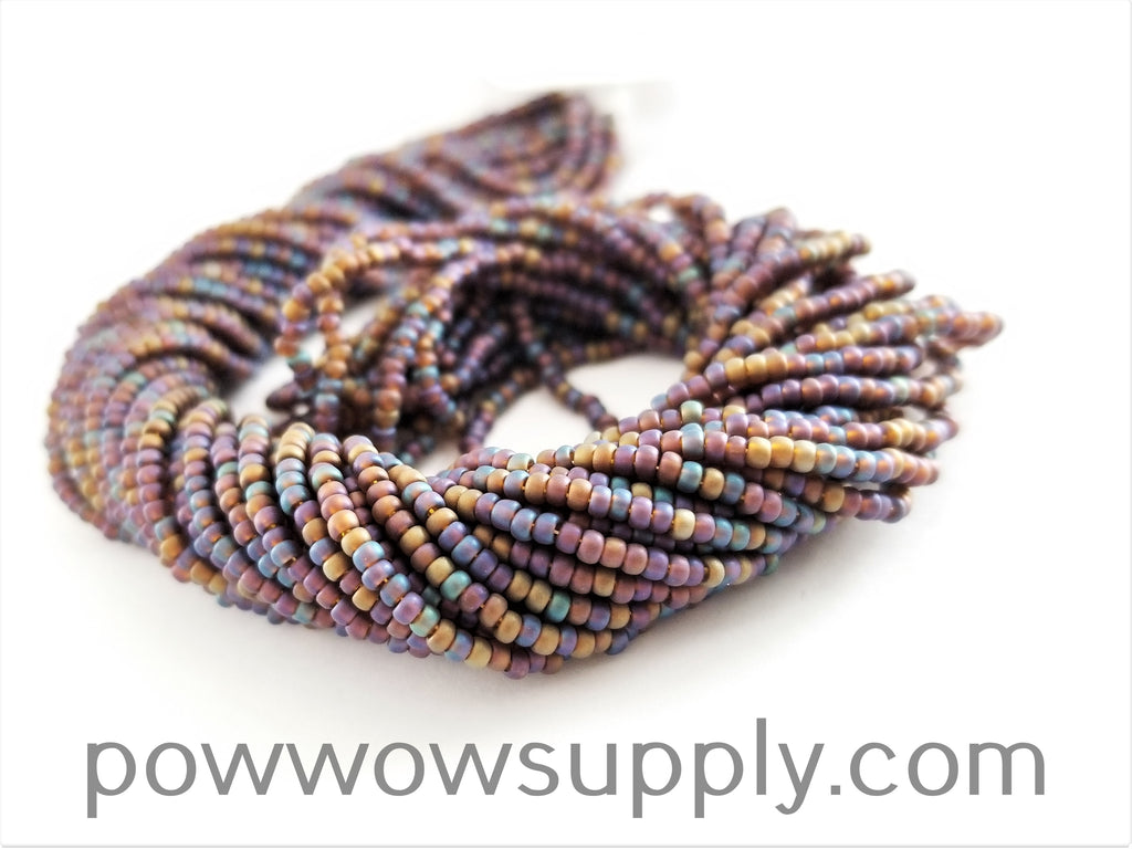 11/0 Seed Beads Transparent AB Matte Smoke Topaz