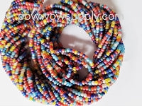 11/0 Seed Beads Transparent AB Matte Mix
