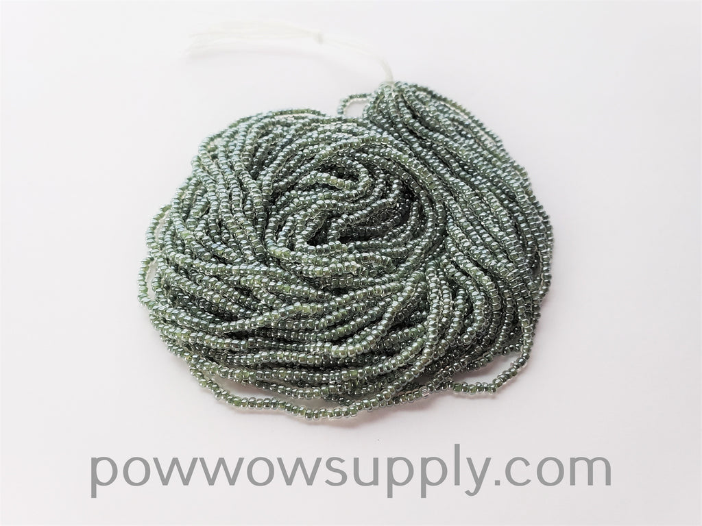 11/0 Seed Beads Olive Lined Crystal