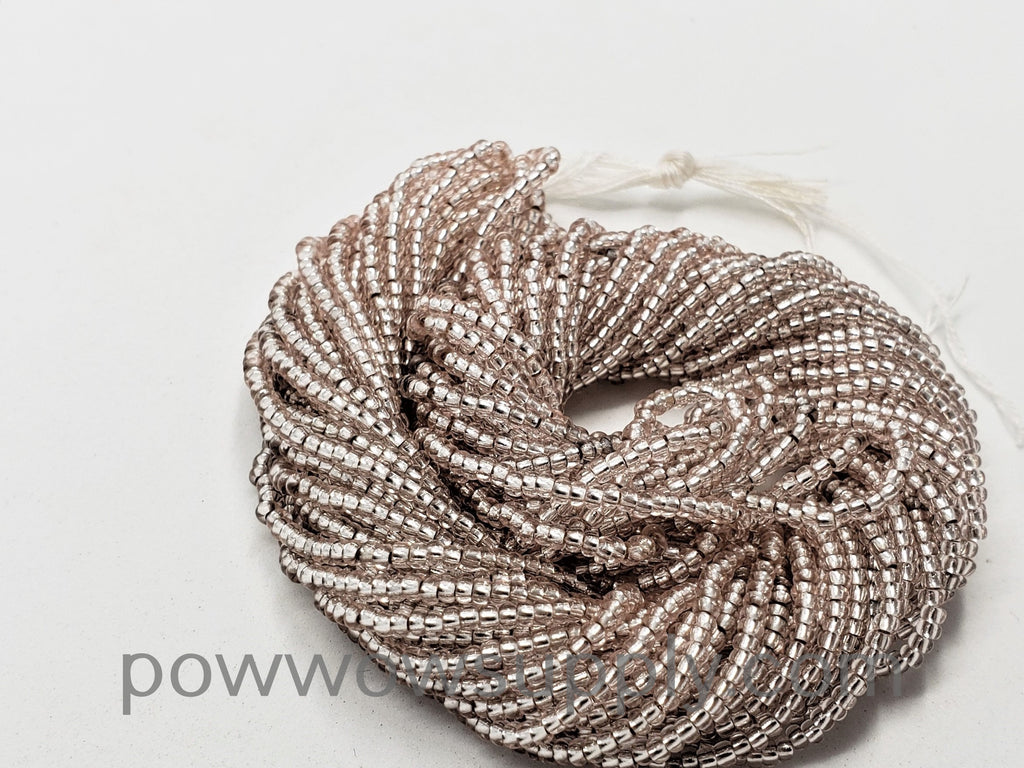 11/0 Seed Beads Silver Lined Light Rose