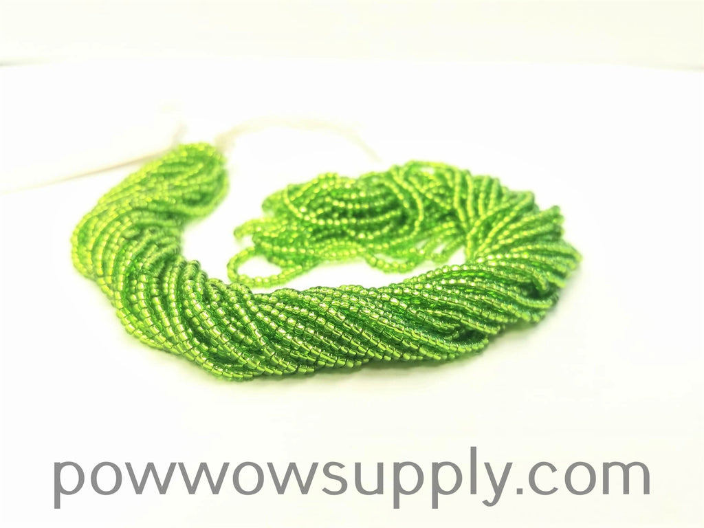11/0 Seed Beads Silver Lined Lime
