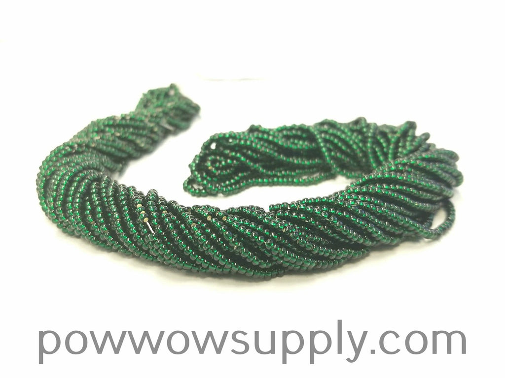11/0 Seed Bead Silver Lined Dark Green