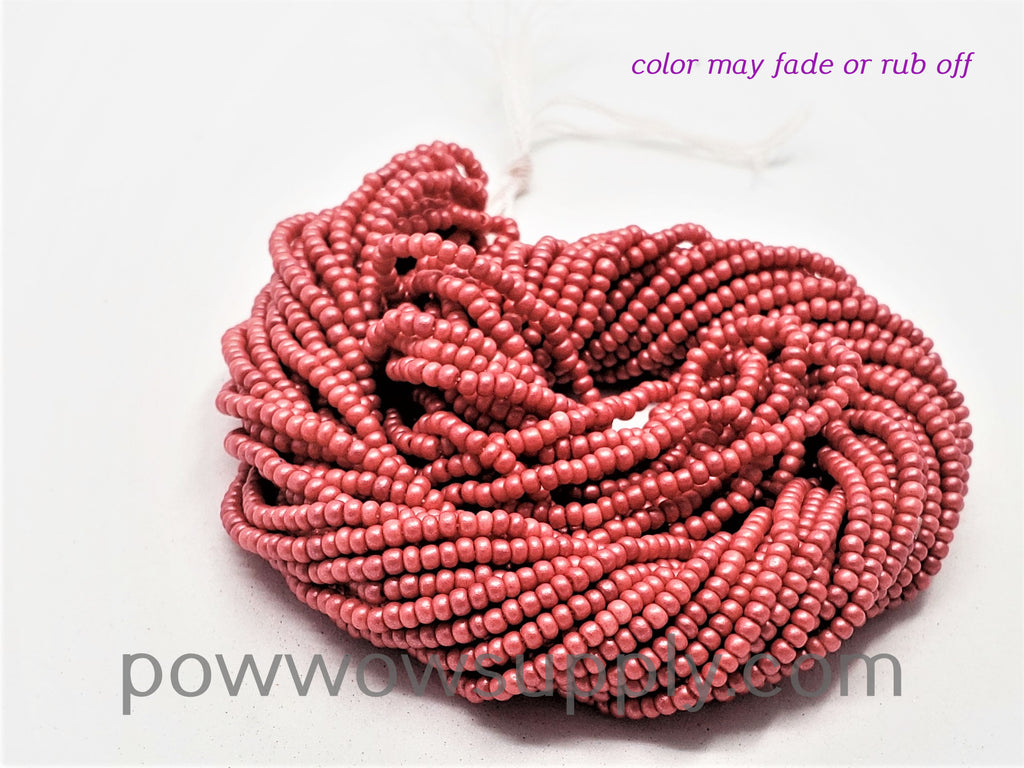 11/0 Seed Beads Pearl Matte Red