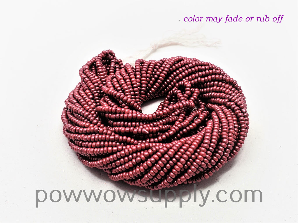 11/0 Seed Beads Pearl Matte Light Burgundy