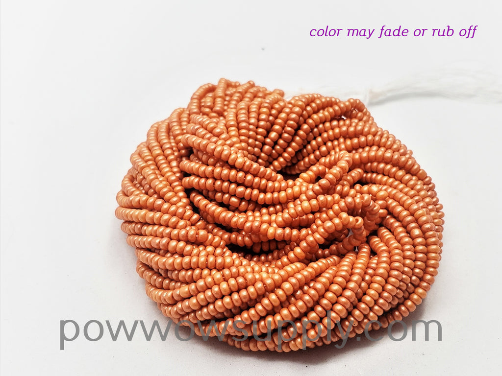 11/0 Seed Beads Pearl Matte Tangerine