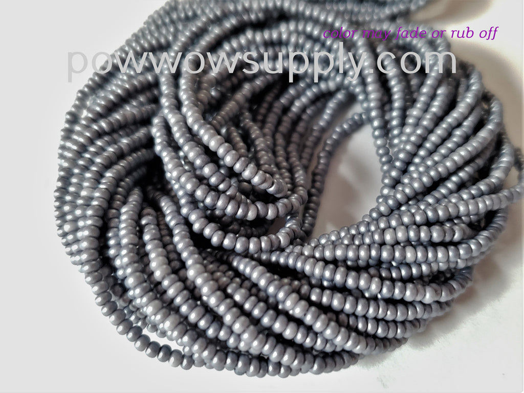 11/0 Seed Beads Pearl Matte Pewter
