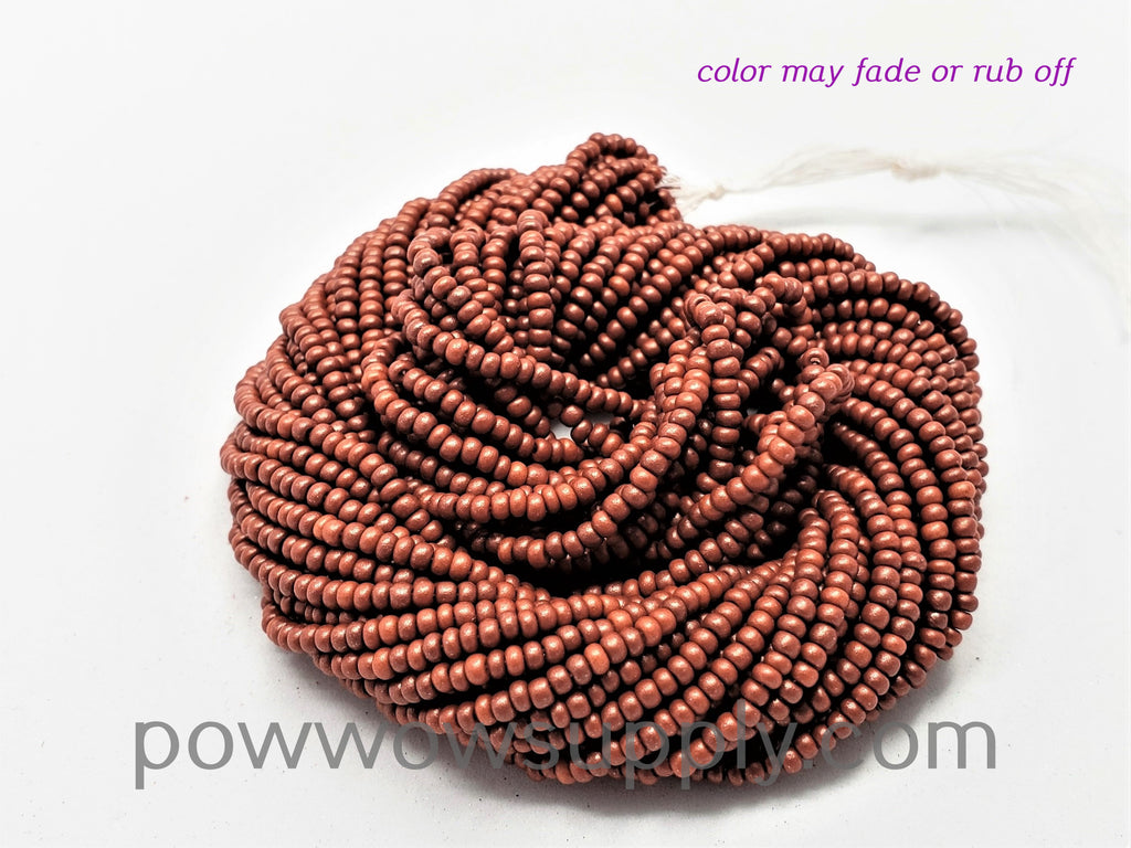 11/0 Seed Beads Pearl Matte Rusty Copper