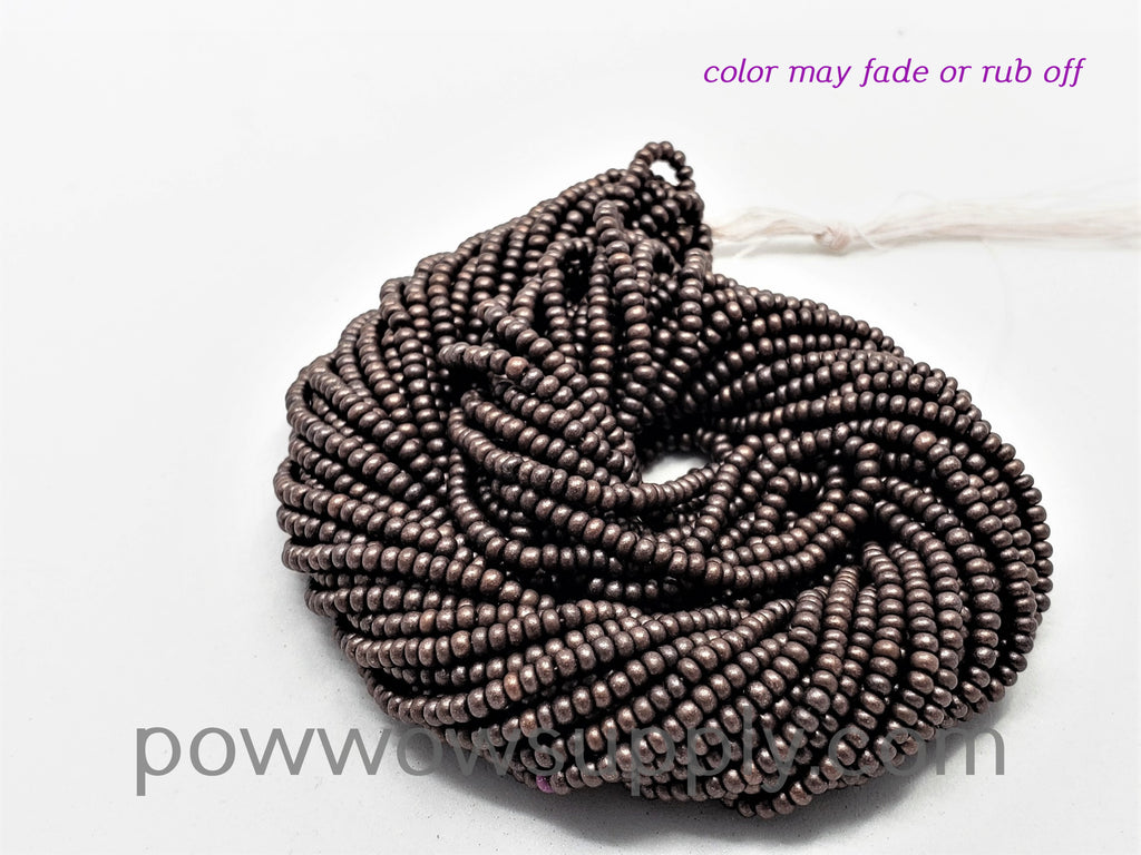 11/0 Seed Beads Pearl Matte Chocolate Raspberry