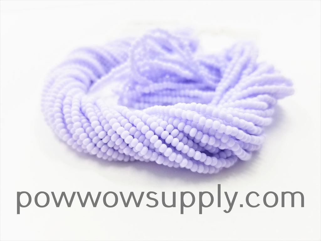 11/0 Seed Beads Opaque Pastel Lavender
