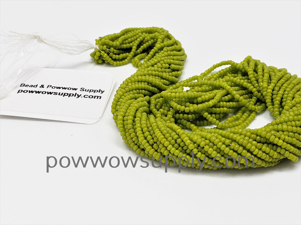 13/0 Seed Beads Opaque Olive