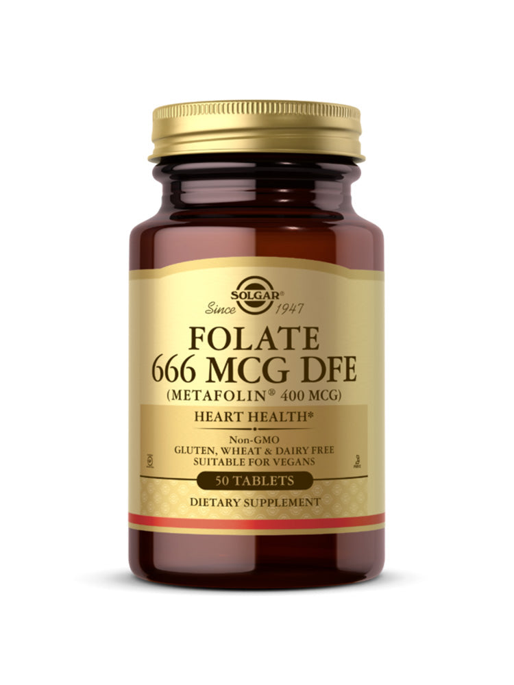 솔가 천연 엽산 Solgar Folate 400 mcg (as Metafolin) Tab 50개입
