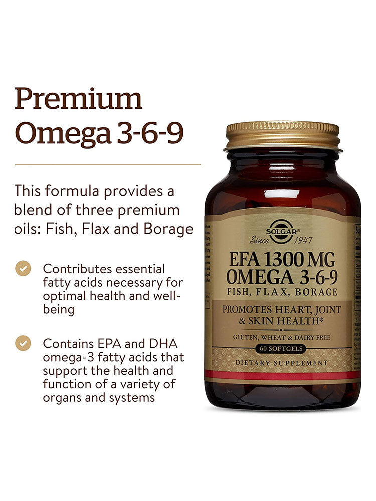 솔가 오메가 3-6-9 Solgar 1300 mg Omega 3-6-9 Softgel 60개입