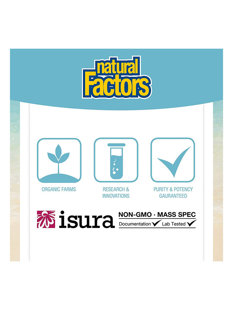 내추럴팩터스 가바 Natural Factors Stress-Relax Pharma GABA 100 mg Chewable 120개입