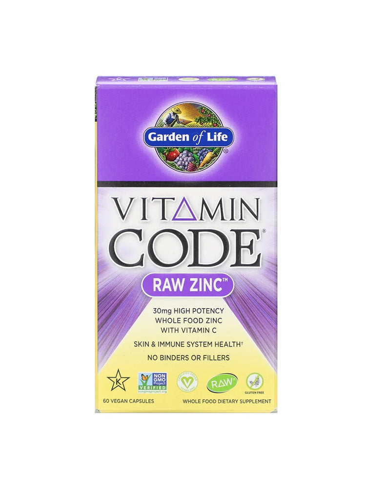 가든오브라이프 아연 Garden of Life Vitamin Code Raw Zinc 60개입 Cap