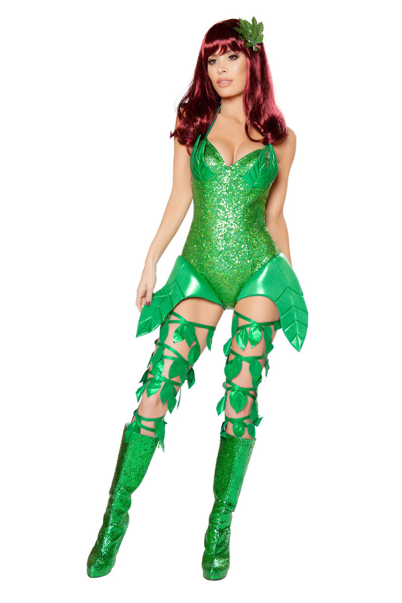 10041 - Confidential Society 1pc Poisonous Villain Costume