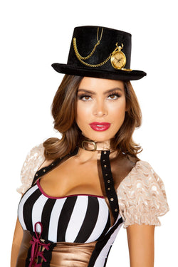 10106 - Top Hat with Pocket Watch - Pink Esmeralda