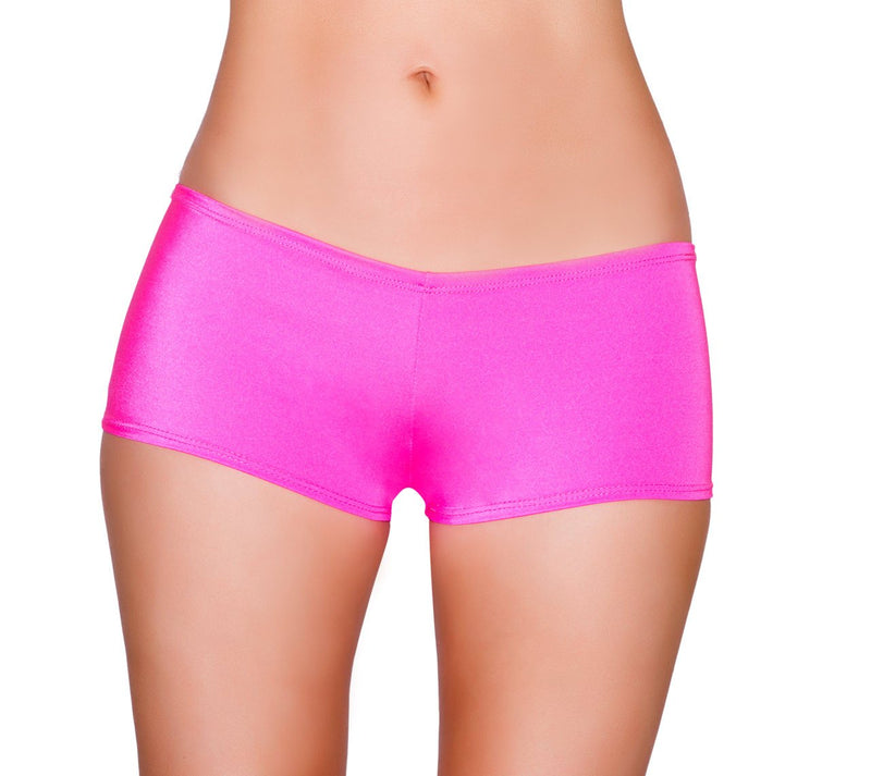 3329 - Low Cut, Full Covered Shorts - Pink Esmeralda