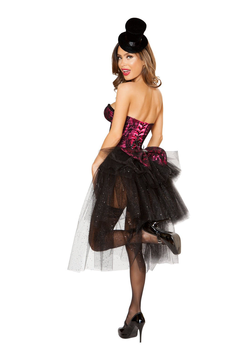 4826 - 3pc Burlesque Girl - Pink Esmeralda