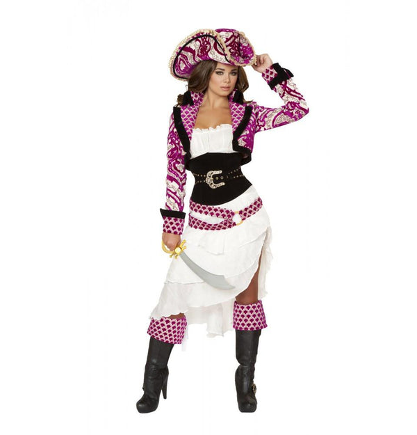 4526 5pc Precious Pirate Costume - Roma Costume Costumes,2014 Costumes,New Products - 2