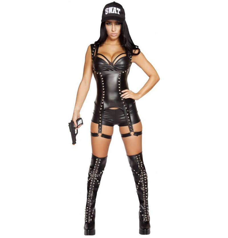4587 3pc Seductive SWAT Agent - Roma Costume Costumes,New Arrivals,New Products - 1