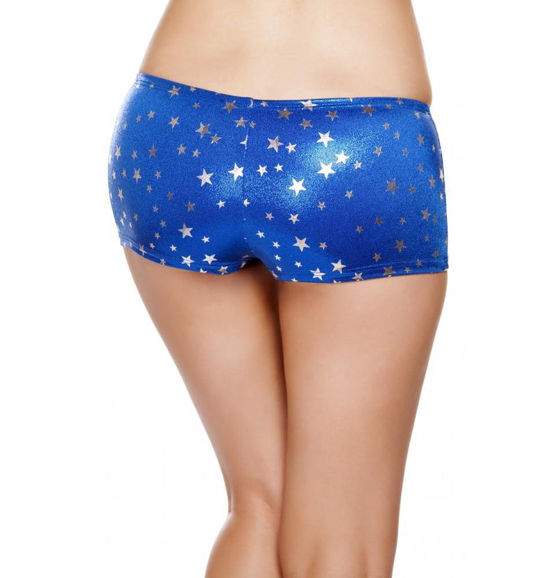 SH226 Silver Stars Boy Shorts - Roma Costume Shorts,New Products,New Arrivals - 2