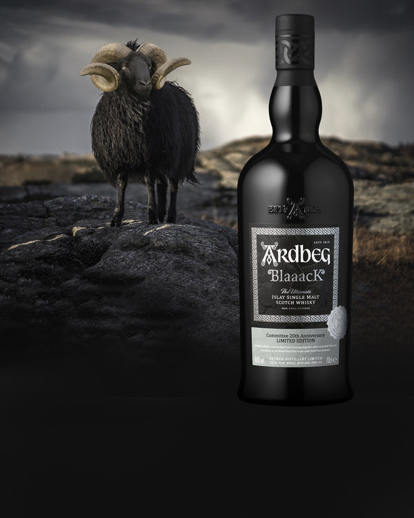 Ardbeg Blaaack Islay single malt scotch whisky