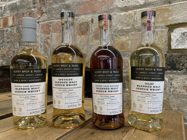 Berry Bros Rudd classic scotch whisky range