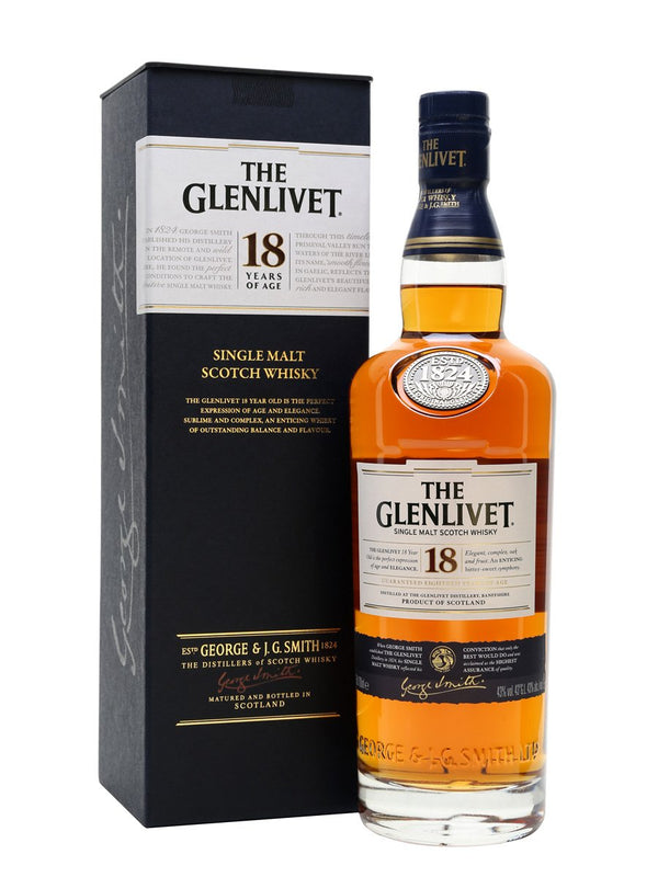 Glenlivet 18 year old single malt scotch whisky review