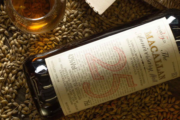 The Macallan 25 Year Old Anniversary Malts single malt scotch whisky rare and collectable investment