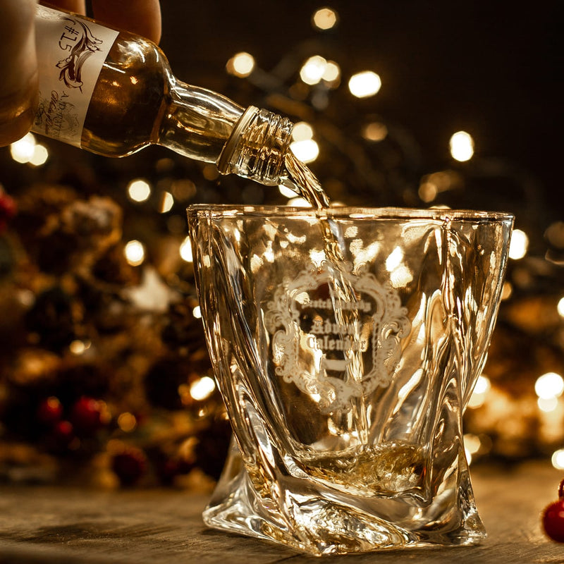 Christmas whisky glass in scotch advent calendar