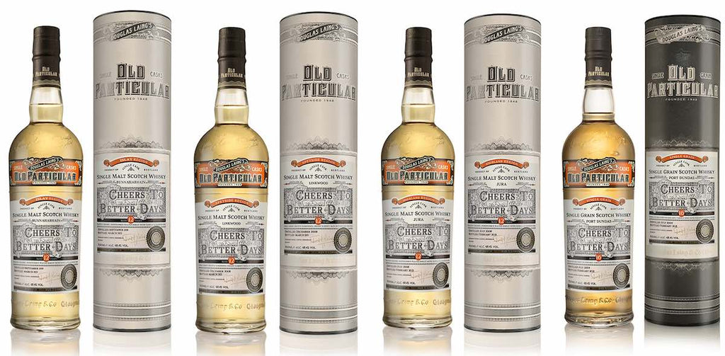 Douglas Laing Launch Old Particular Cheers to Better Days Series Single Cask Whiskies