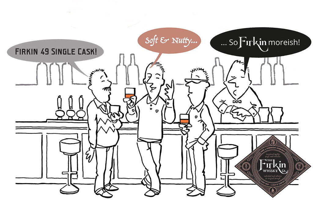 Firkin 49 Whisky Cartoon