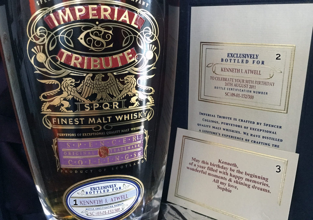 Imperial Tribute Whisky Personalisation Guide