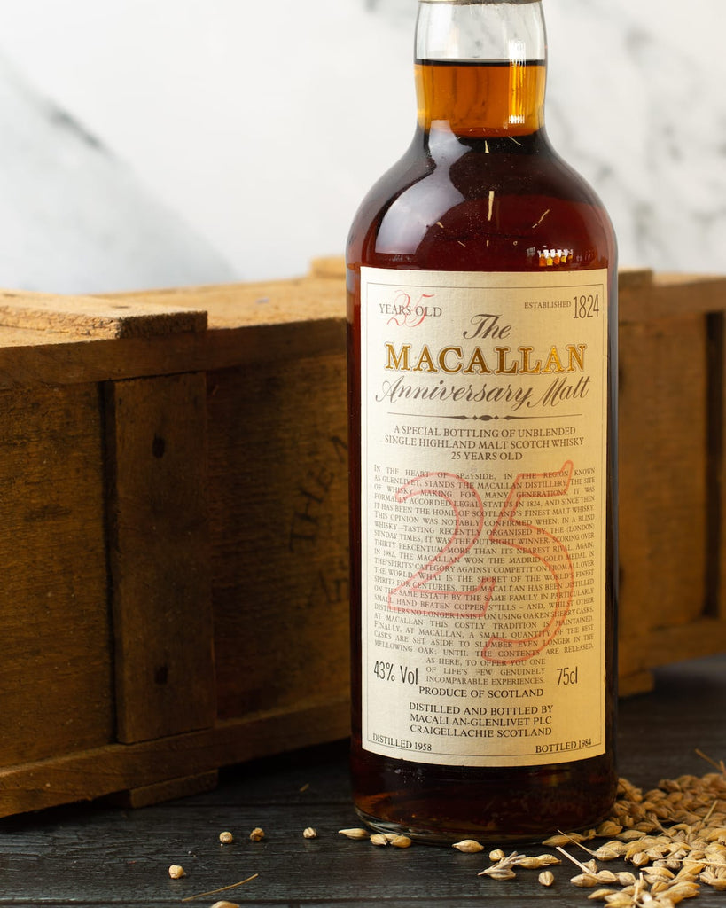 The Macallan 25 year old anniversary malt collectible rare whisky investment