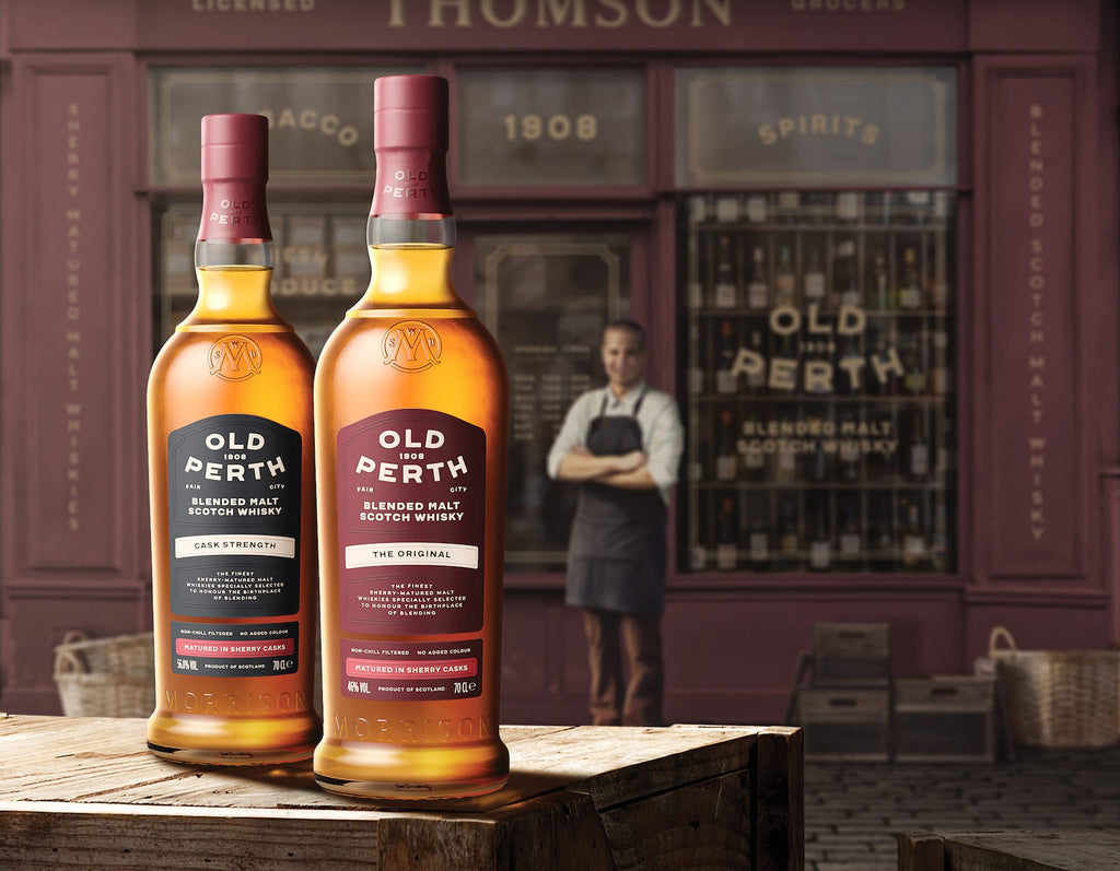 Old Perth The Original and Cask Strength blended malt scotch whiskies