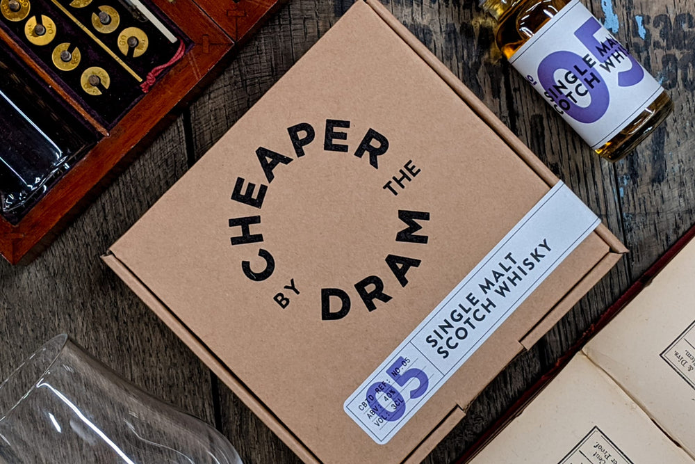 Premium whisky sample bottle from Cheaper by the Dram