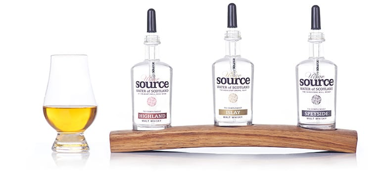 Uisge Source Regional Spring Water from Scotland for adding to cask strength high alcohol ABV scotch whisky