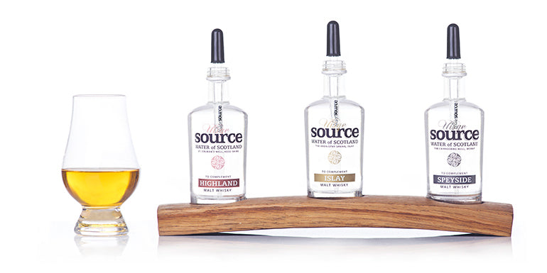Uisge Source Regional Spring Water for Scotch Water Gift Set
