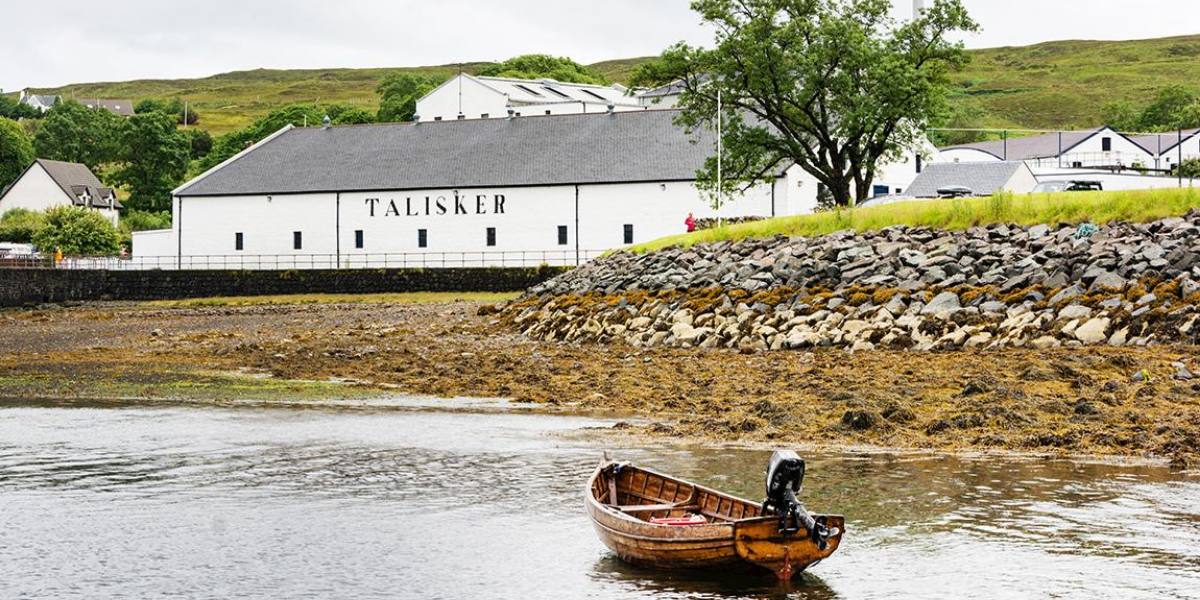 Talisker Distillery on Skye in Scotland