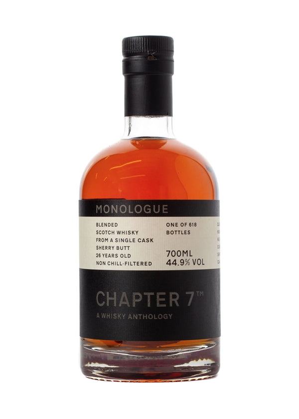 Chapter 7 Monologue 26 Year Old Blended Scotch Whisky