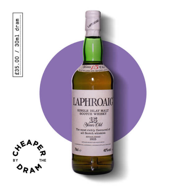 Cheaper By The Dram No.05, Laphroaig 15 year old 1980s, bottle