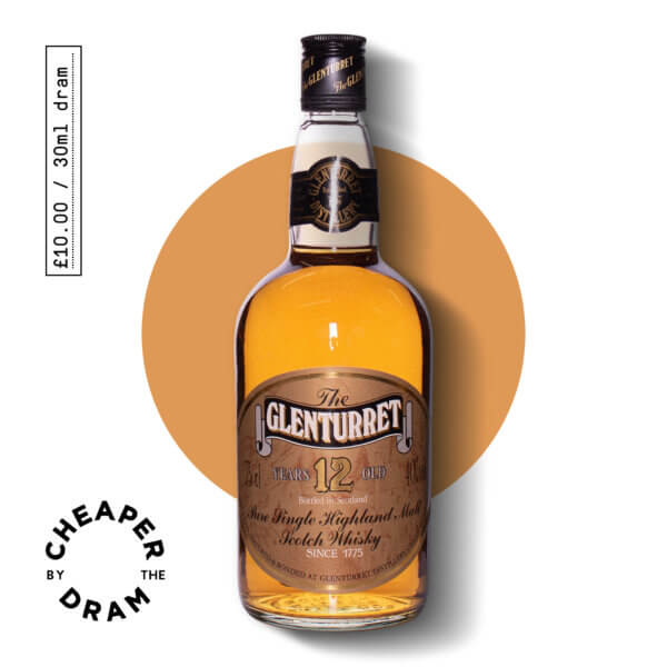 Cheaper By The Dram No.10, Glenturret 12 year old 1980s, bottle