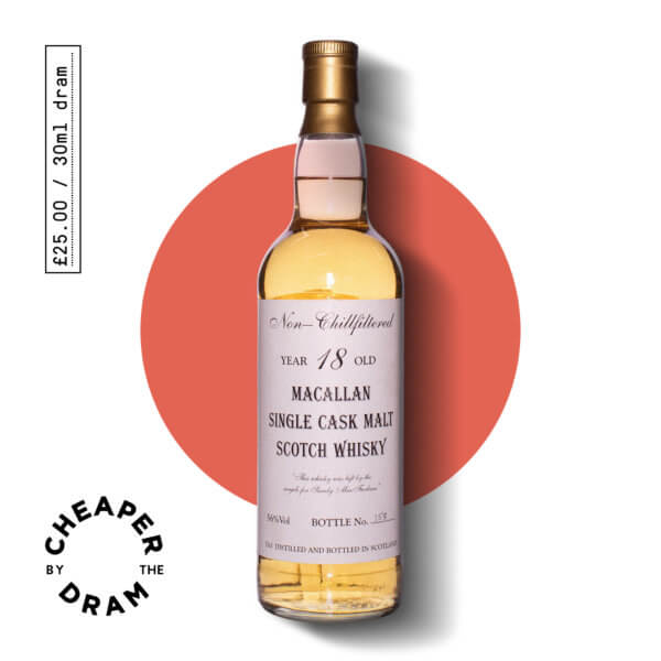 Cheaper By The Dram No.15, Macallan 1989 18 year old single malt scotch whisky, bottle